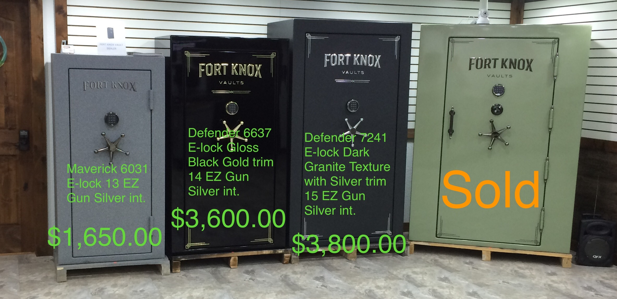 Fort Knox instock items